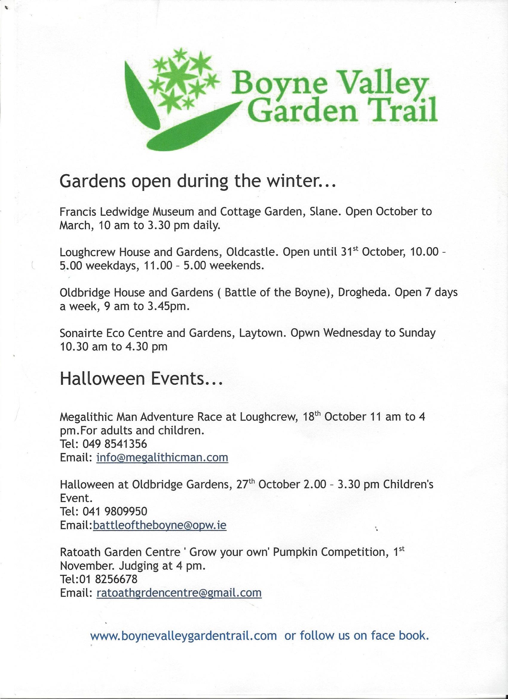 garden trail events boyne valley garden trail part 3