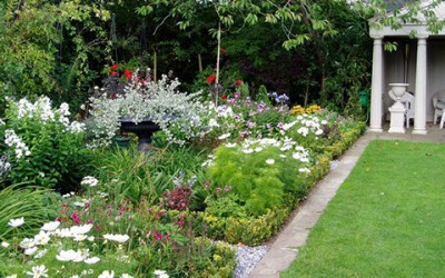Walled garden and boutique accommodation