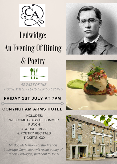 Ledwidge and Poetry Dinner 1st JUly 2016