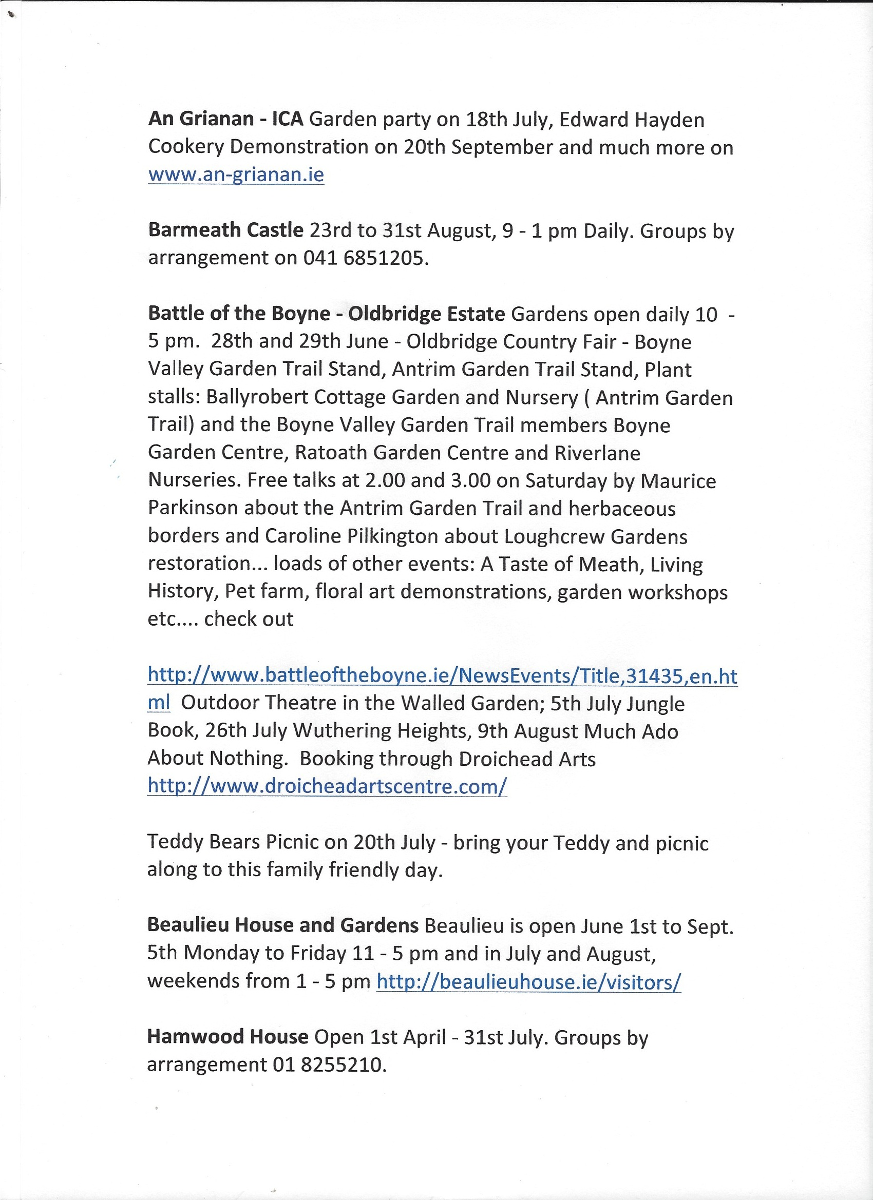 Things to see and Do 2014 scan